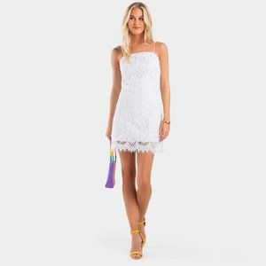 Francesca's Jannice White Lace Mini Dress NWT
